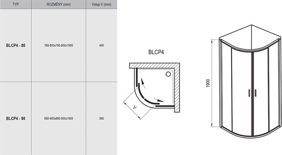Dušinurk Blix BLCP4